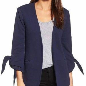 NWT Olivia Moon Tie Sleeve Knit Blazer